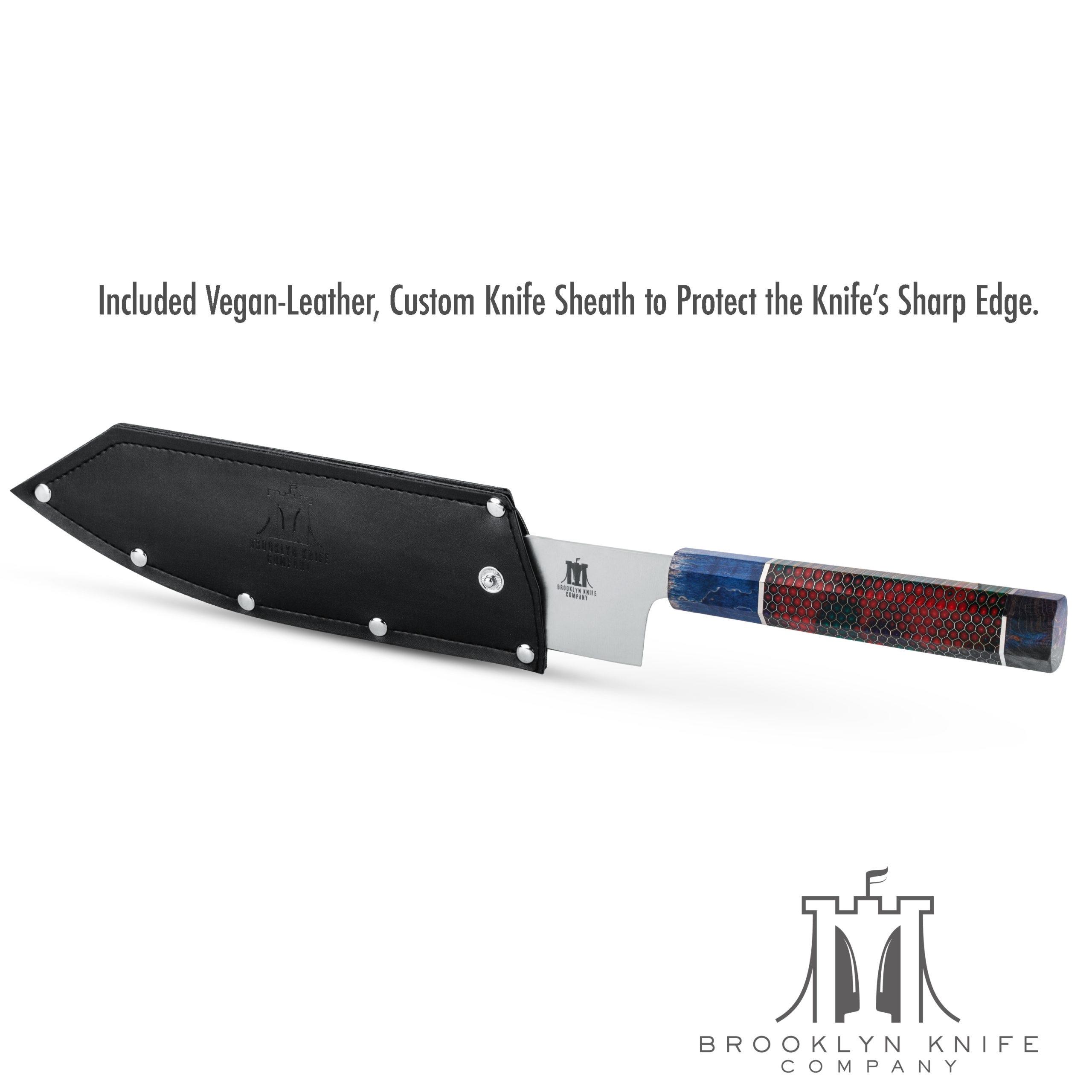 Japanese Hoseki 8 Chef Knife Blue Brooklyn Knife Company